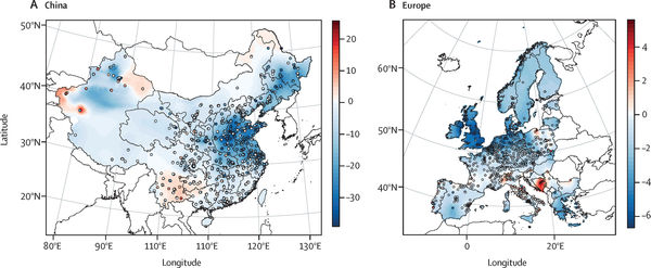Effect of lockdown on surface PM2.5 concentrations
